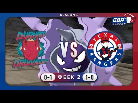 Cloyster In The Clutch!? | Gba D-league S3w2 | Durham Druddigons Vs Texas Rangers