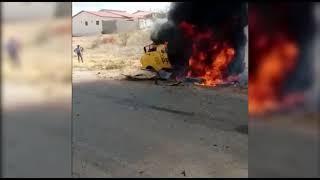 Bandidos explodem carro-forte em tentativa de assalto na PB