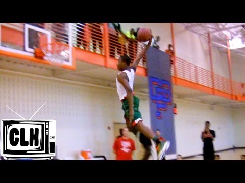 Dennis Smith Jr JUMPS OVER Kwe Parker at CP3 Elite Guard Camp – Impresses College Campers