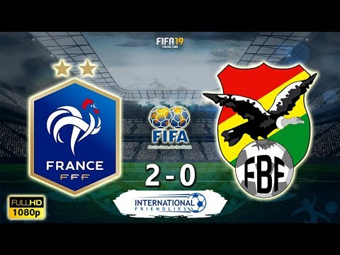 France Vs Bolivia 2-0 | International Friendlies 2019 | 02/06/2019 | FIFA 19