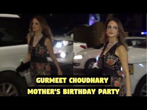 Sussanne Khan Attends Gurmeet Choudhary Mother's Birthday Party
