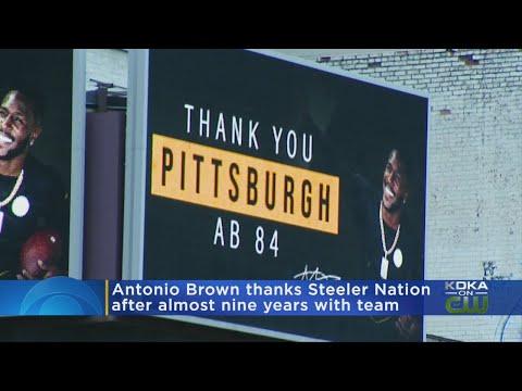 Former Pittsburgh Steelers WR Antonio Brown Buys Billboards Thanking Steelers Fans