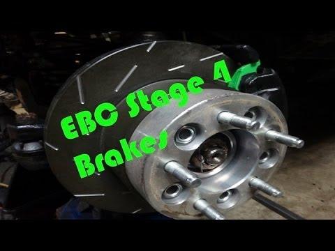 Jeep EBC Stage 4 Brake Install