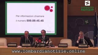 Coronavirus Lombardia, Attilio Fontana e Giulio Gallera in diretta stampa