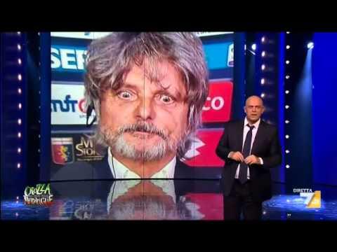 maurizio crozza imita ferrero, il presidente della sampdoria