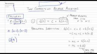 Time Complexity of Recursive Algorithms using Recurrences Part 1/4