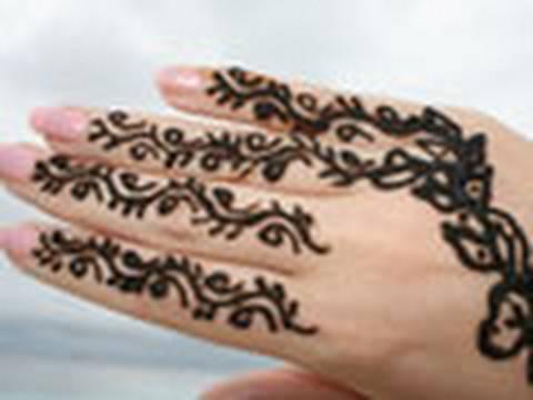 Traditionell Henna Tattoo