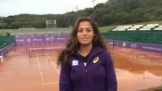 Carolina Meligeni joga a chave principal do Brasil Tennis Cup