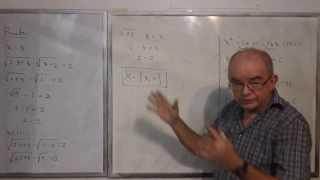 Algebra Intermedia - Lección 42 - B (resolviendo Ecuaciones Irracionales O Radicales)