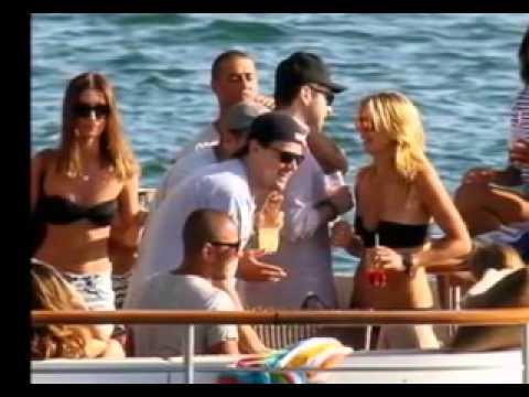Leonardo DiCaprio's wild yatch party with Topless Girls