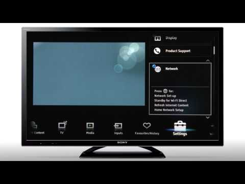 How to connect your BRAVIA to a wireless (Wi-Fi) network