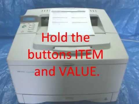 HP LASERJET 5000/4000/4050/4100 MAINTENANCE MESSAGE