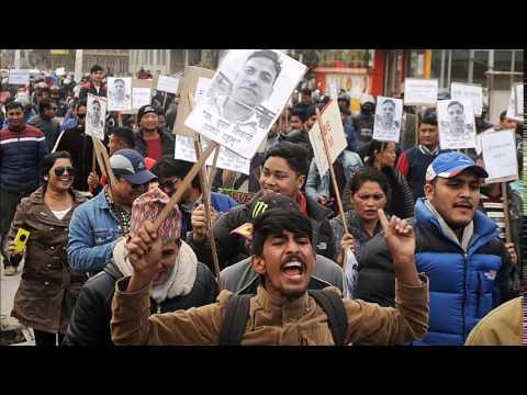Yuwa Sang Protest against Tiwari murder case