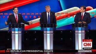 Marco Rubio and Ted Cruz Turn on Donald Trump at GOP Debate