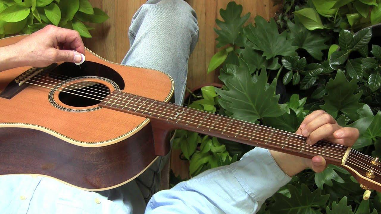 One finger guitar chords for left-handed beginners