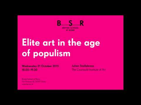A lecture by Julian Stallabrass, 'Elite art in the age of Populism'