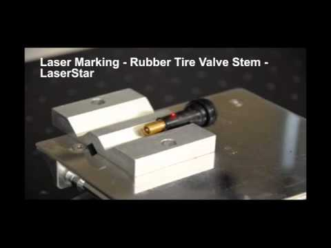 <h3>Laser Marking - Rubber Tire Valve Stem </h3>In this laser marking video, we are laser marking a rubber tire valve stem using a fiber laser marking system.<br><br>