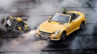 6. 2012 Mercedes-Benz SLK 55 AMG 5.5 V8 422 hp 155 mph 0-62 mph 4,6 s & Ducati Streetfighter 848