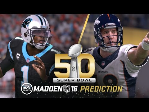 According to Madden NFL 16, this is how the game is going to go down