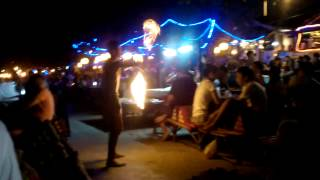 Fire Show At Vongdeuan Beach Koh Samet Island 2014 Rayong Thailand Lifestyle Video Reviews 32