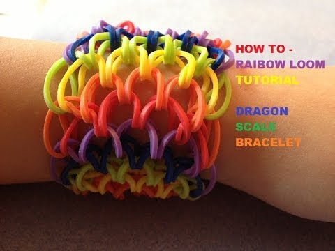 Rainbow Loom : Dragon Scale Cuff Bracelet – How To Tutorial – Part 2