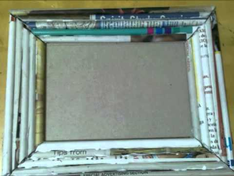 Marco de Periodico / Recycle Newspaper making a frame