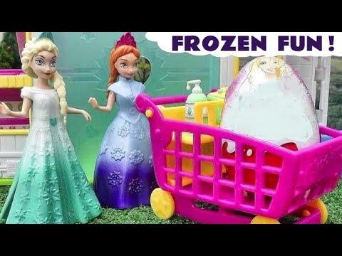 MLP Shopkins Frozen Magiclip Play Doh Surprise Eggs Barbie Kinder Elsa Princess Disney Minnie Mouse