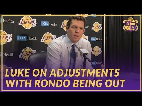 Video: Lakers Interview: Luke Walton on LeBron's Historic Night, Adjustments With Rondo Being Injured