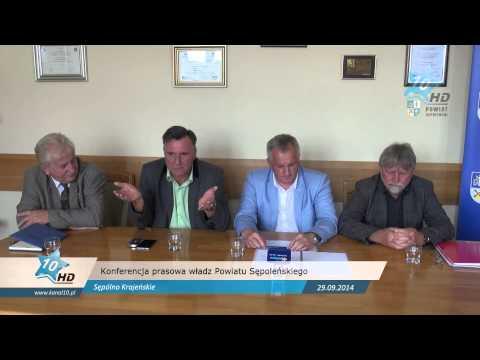 Konferencja prasowa władz Powiatu Sępoleńskiego, 29.09.2014 r.