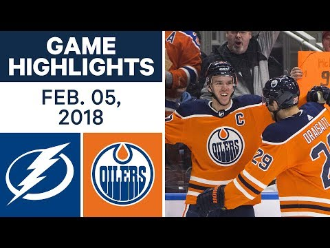 Video: NHL Game Highlights | Lightning vs. Oilers - Feb. 5, 2018