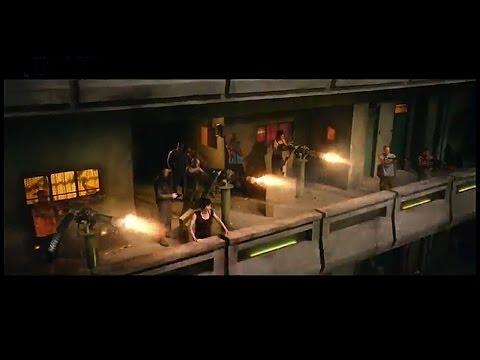 Dredd - Three Gatling Guns vs Dredd.. No Problem - 2012 Dredd Gatling Gun Scene