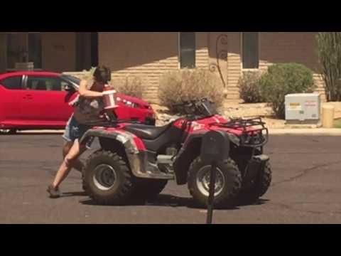 Our crazy redneck neighbor rides atv drunk