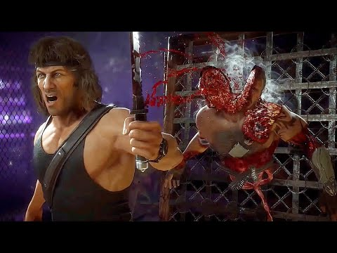 MORTAL KOMBAT 11 Rambo All Fatalities & Brutalities So Far MK11