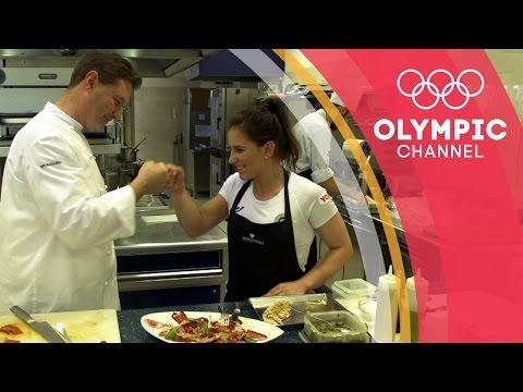 Erika in cucina con Chicco Cerea