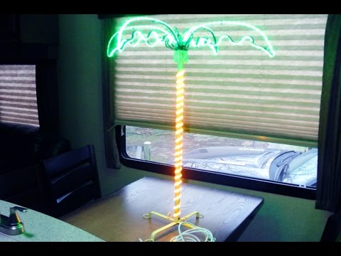 Repairing a LED Palm Tree  RV Ornament.