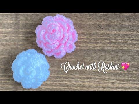 Easy crochet rose flower/ crochet flower for beginners / beginner friendly