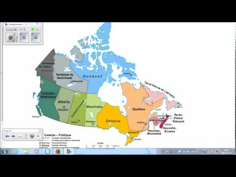 Canada:  Provinces, territoires et capitales
