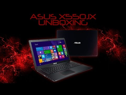 ASUS X550JX black-red edition unboxing / kicsomagolás