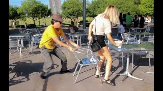 Video Chair Pulling Prank in Birmingham!!! MP3, 3GP, MP4, WEBM, AVI, FLV September 2018