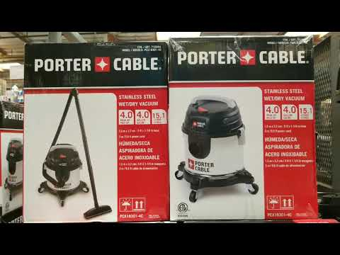 Costco! Porter Cable Stainless Steel 4 Gallon 4 HP Wet Dry Vacuum! $24!!!