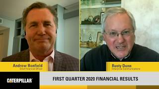 Caterpillar CFO Andrew Bonfield's Overview of First-Quarter 2020 Results