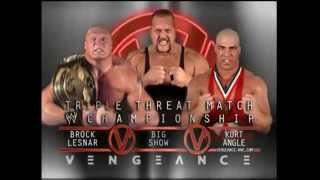 WWE PPV Vengeance 2003   Brock Lesnar vs Big Show vs Kurt Angle Promo