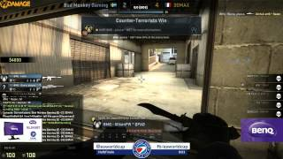 ESWC 2014 Female - Halbfinale Bad Monkey Gaming Vs.  3DMAX! Female (de_cache) Map 1 Part 1