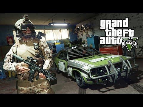 GTA 5 Zombie Apocalypse Mod #16 - BUILDING THE ULTIMATE ZOMBIE BATTLE VEHICLE!! (GTA 5 Mods) (видео)