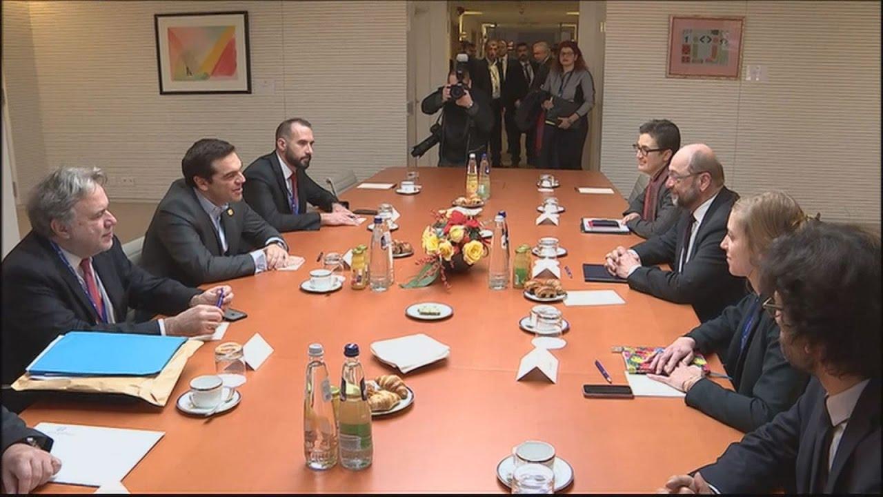 Στη Σύνοδο Κορυφής ο Αλ.Τσίπρας, συνάντηση με τον Μ.Σουλτς