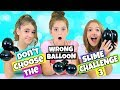 Don't Choose The Wrong Balloon Slime Challenge Part 3! (With a Twist!)