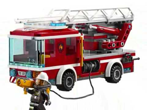 Video LEGO City Camión de Bomberos con Escalera Juguete download in MP3, 3GP, MP4, WEBM, AVI, FLV January 2017