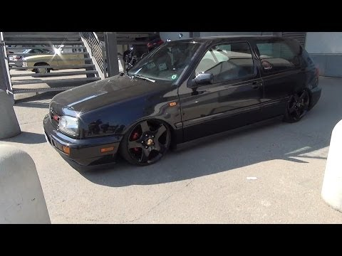 VW Volkswagen Golf III MK 3 Low / Airride / rollcage / Porsche wheels