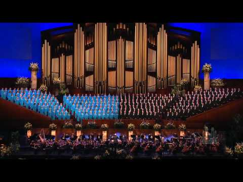 The Mormon Tabernacle Choir sings