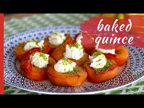 Easy BAKED QUINCES